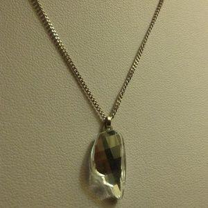 Pegasus Wing Multi-Faceted Pendant Necklace